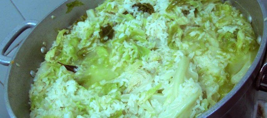 Arroz de lombardo, só para ser um arroz diferente