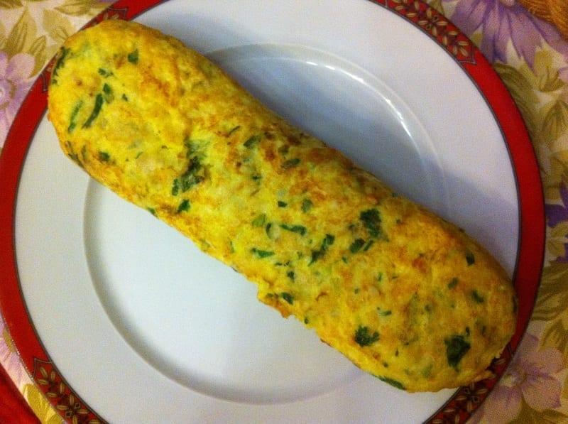 Omeleta de peixe, a receita dos meus pais