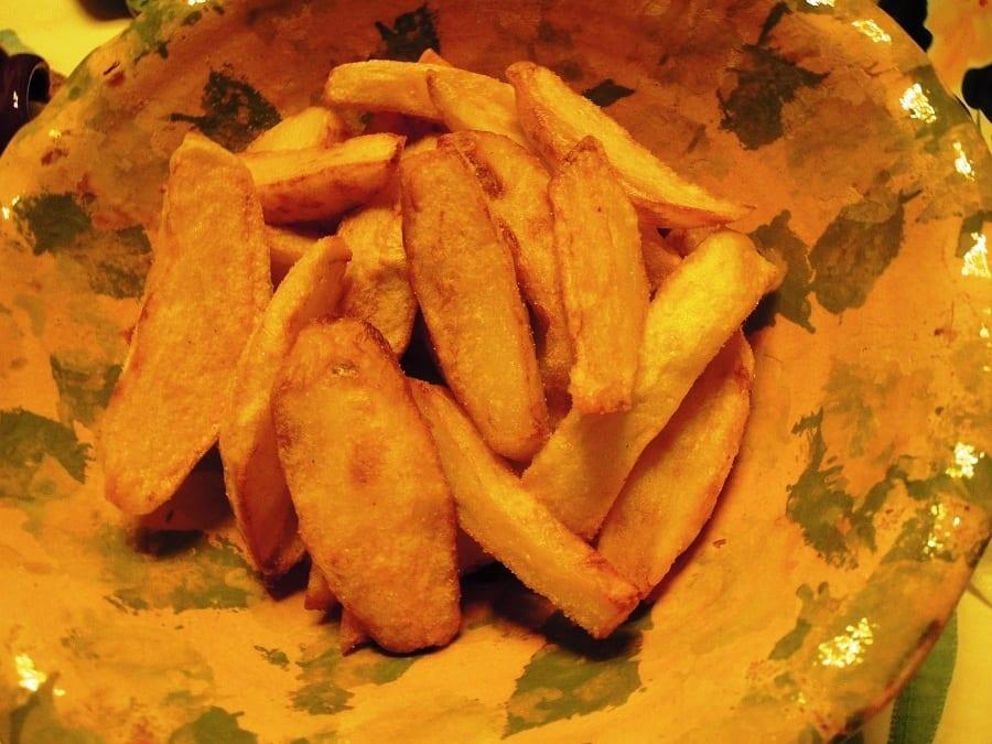 Batatas fritas especiais são as minhas e eu adoro