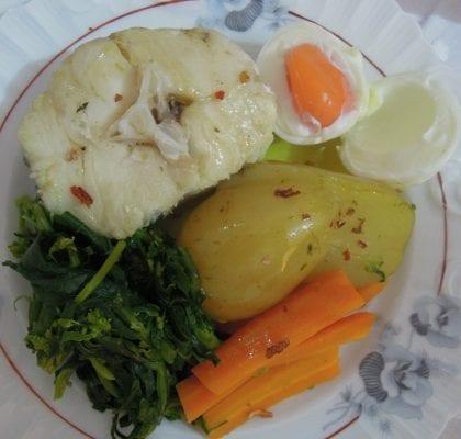 Peixe cozido à portuguesa