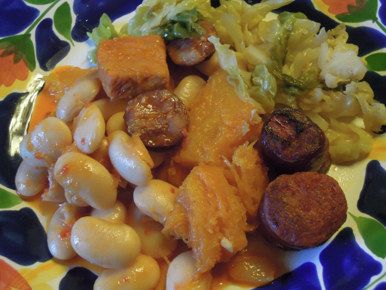 Feijoada branca do lombo, um prato bem condimentado