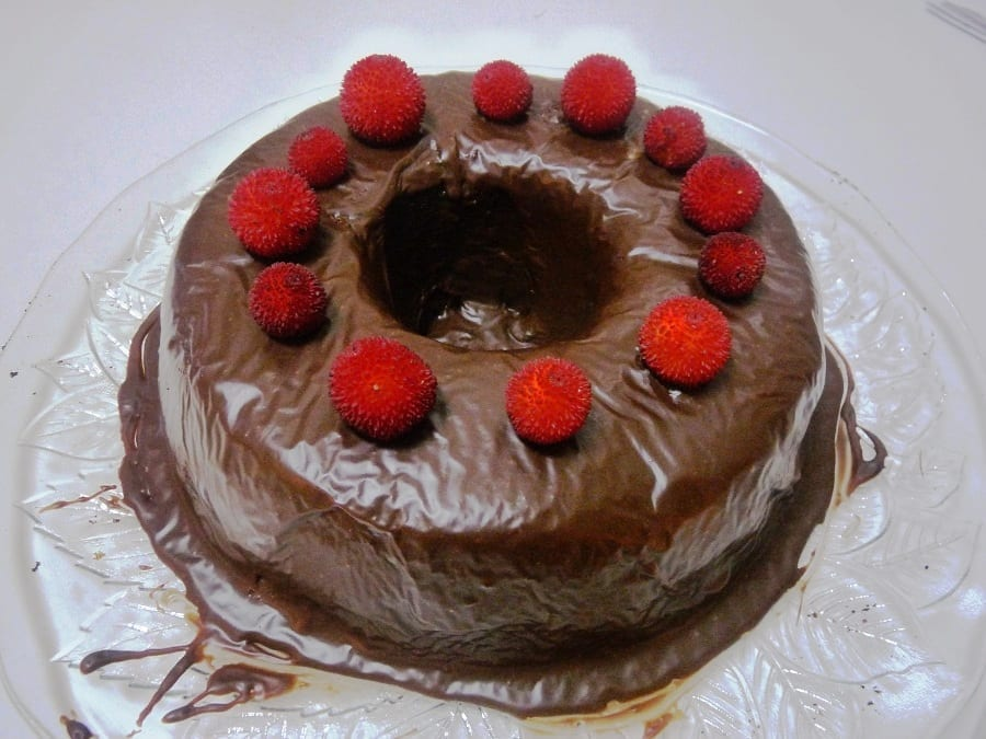 bolo de agrião - Bolo de Agrião com Cobertura de Chocolate