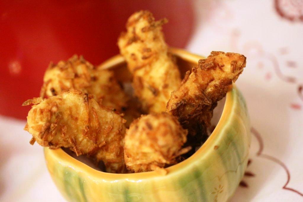 Panados de frango e batata