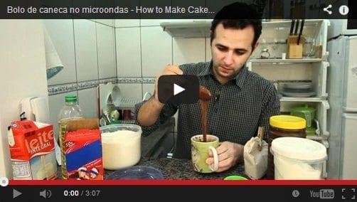Grafe e Faca Bolo de Chocolate Caneca