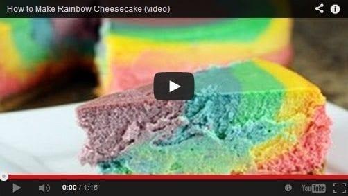 Grafe e Faca Cheese Cake Arco Iris