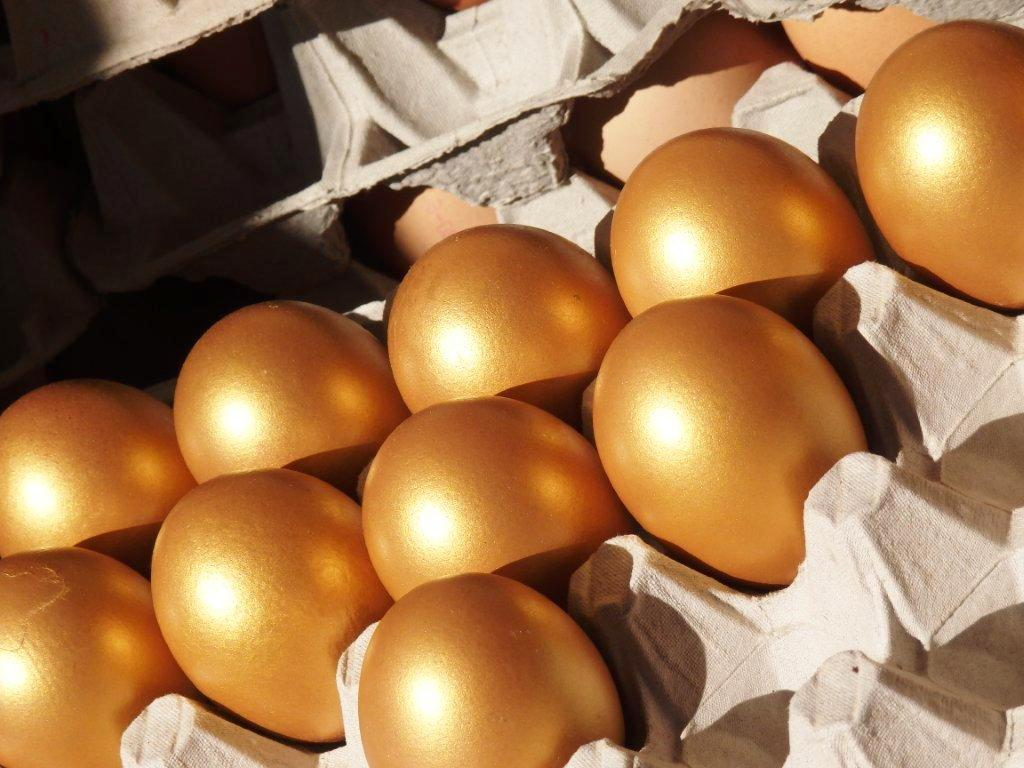 Na Alemanha as galinhas põem ovos de ouro