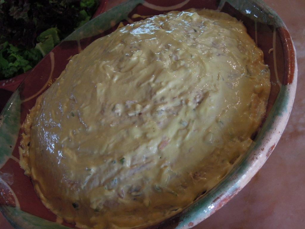 Salada Russa de Atum com maionese de Manjerico