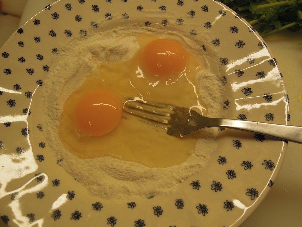 Farinha e ovos