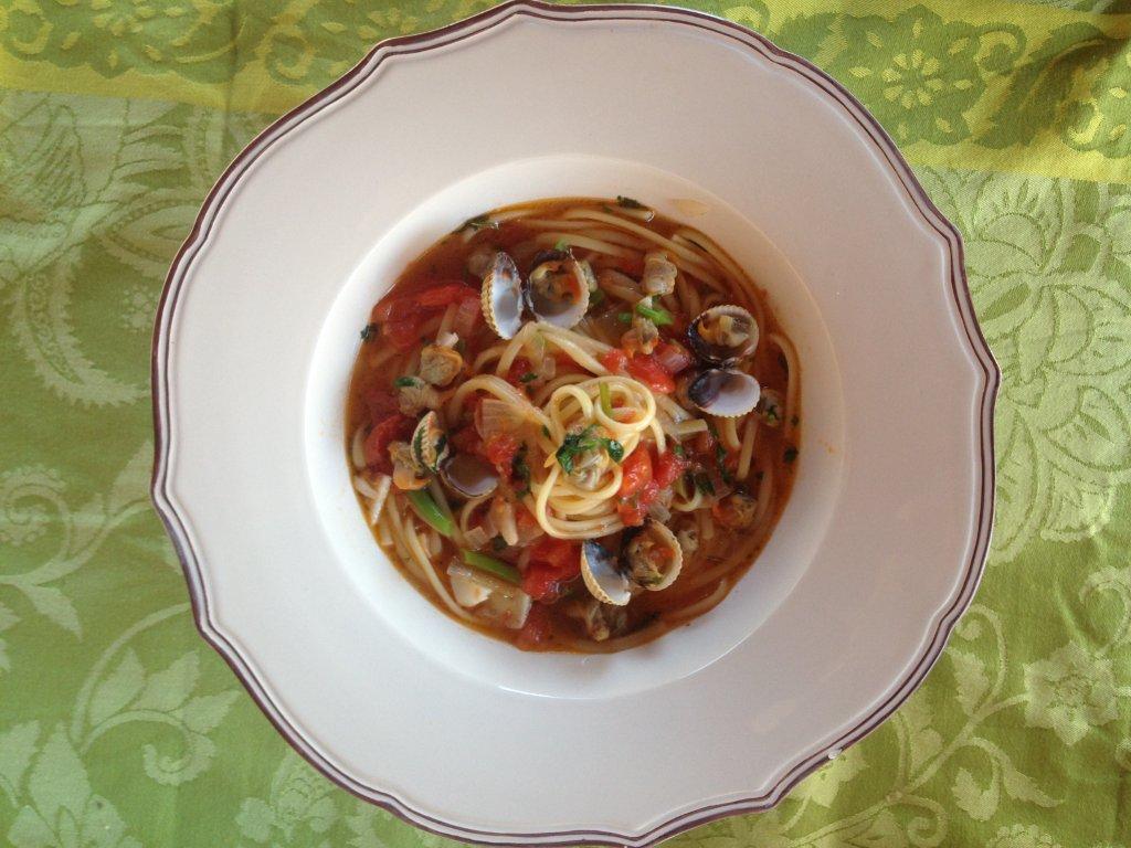 esparguete berbigão - Esparguete de Berbigão molhadinho