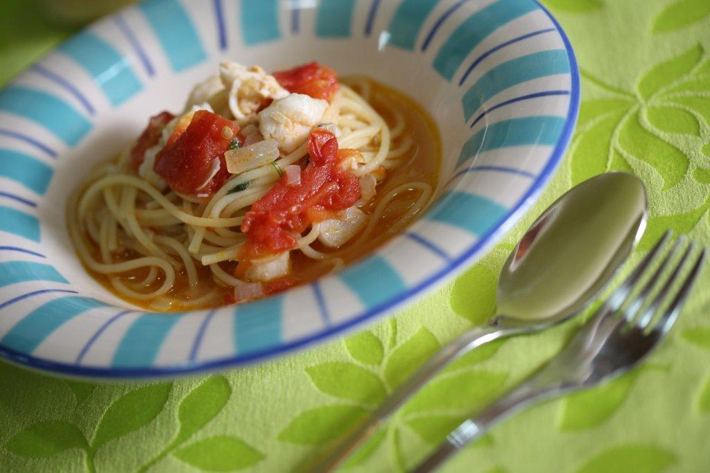 Restovski de Pescada com Esparguete