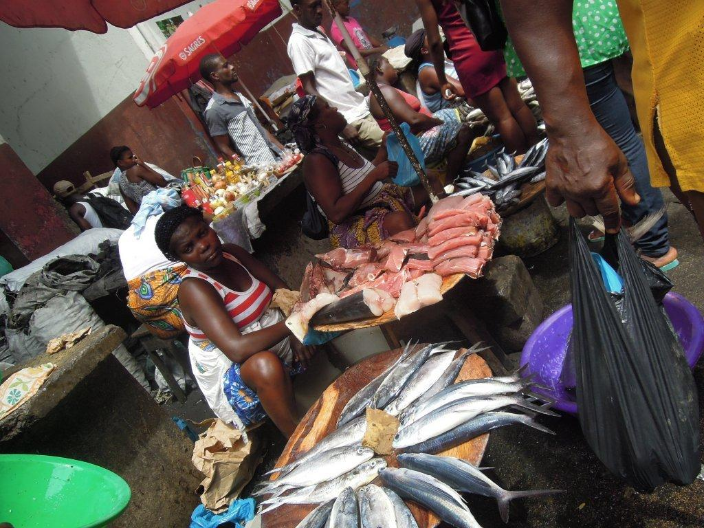 Mercado do Peixe em S. Tomé