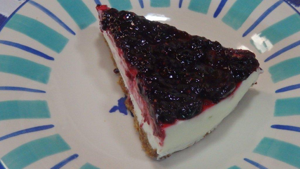 Cheesecake de Lima e Frutos Vermelhos