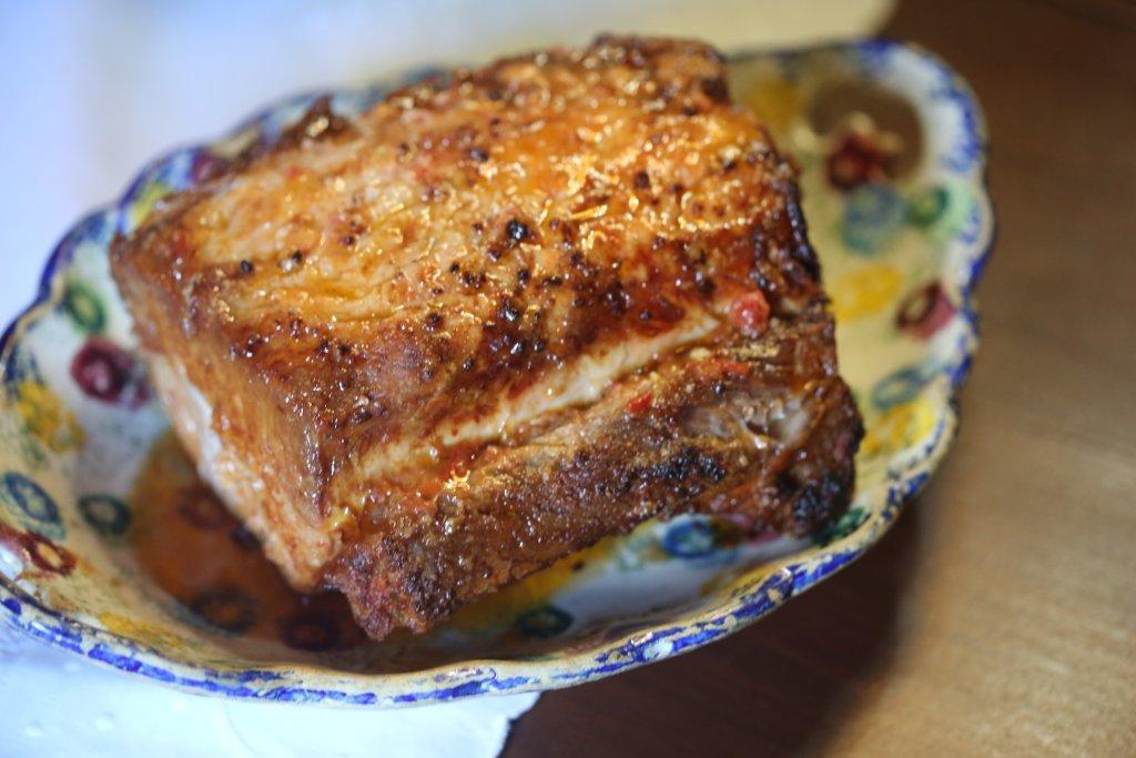 Lombo de Porco assado depois de estufado