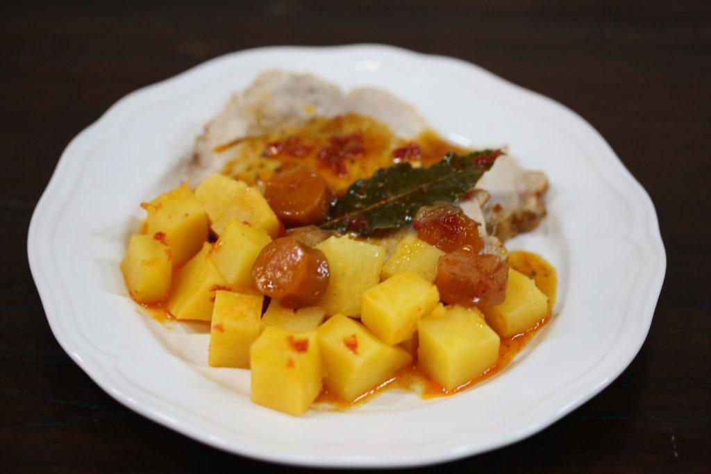 Batatas estufadas