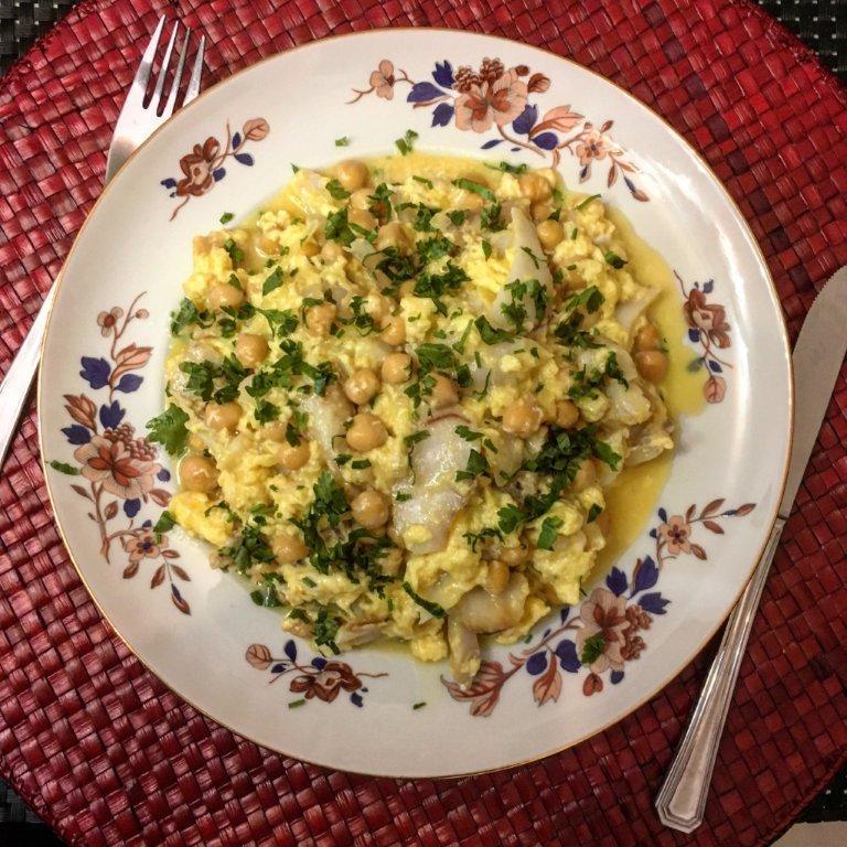 Ovos Mexidos de Bacalhau com Grão