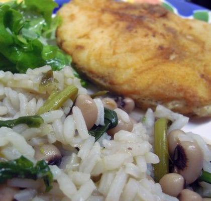arroz de feijão frade com grelos - Arroz de Feijão Frade com Grelos