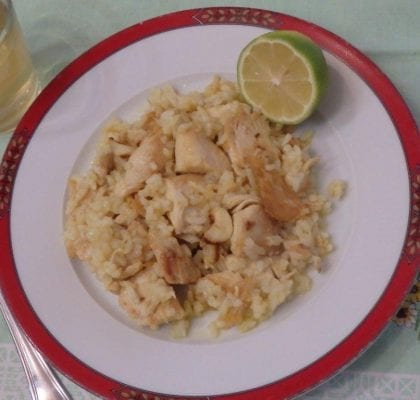 frango frito com arroz - Frango frito com arroz