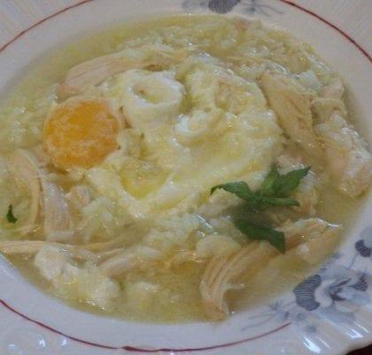 canja com ovo escalfado - Canja com ovo escalfado