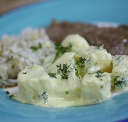 Salada de batata com Molho Alioli com mostarda