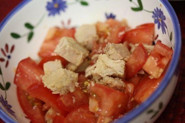 Salada de Atum com Tomate
