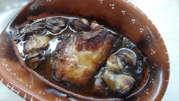 Lombo de porco assado com vinhão