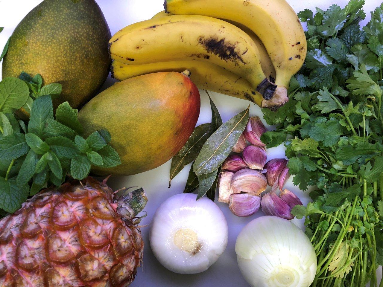 Feijoada de frutas exóticas