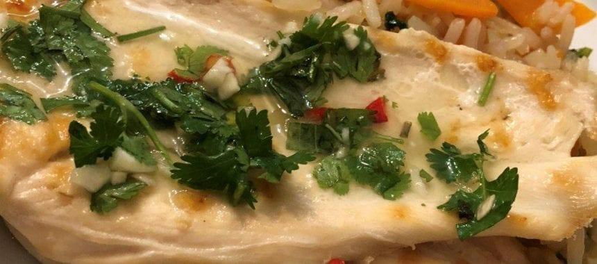 Bifes de frango com molho de piripiri