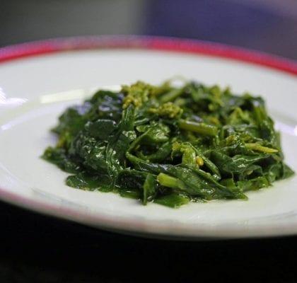 grelos cozidos em azeite - Grelos Cozidos em Azeite