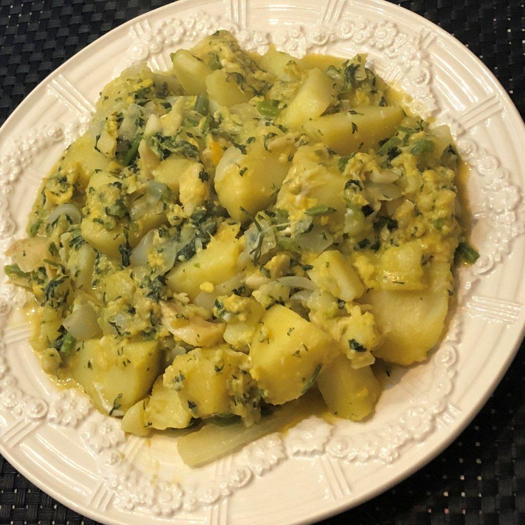 Batatas com Bacalhau e Ovos