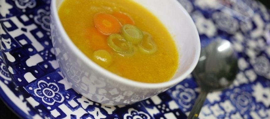 Sopa de Cenoura com Alho Francês