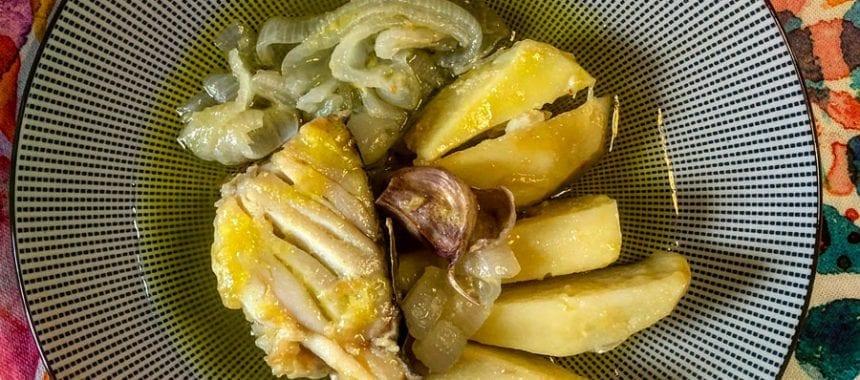 Bacalhau e Batatas Cozidos no Azeite
