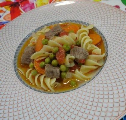 Sopa de Jardineira com Espirais Gigantes sopa de jardineira com espirais gigantes - Sopa de Jardineira com Espirais Gigantes
