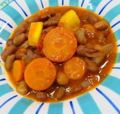 Sopa de Feijão Manteiga com Manga