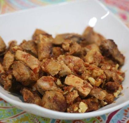 carne de porco à portuguesa assada no forno - Carne de Porco à Portuguesa Assada no Forno