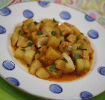 chocos guisados com batatas - Chocos Guisados com Batatas