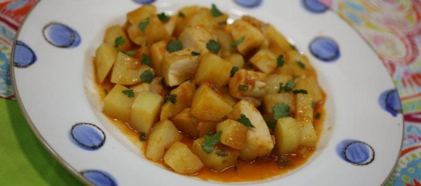 Chocos Guisados com Batatas