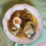 Grão com bacalhau de cebolada