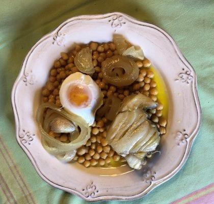 grão com bacalhau de cebolada - Grão com bacalhau de cebolada