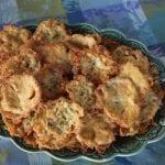 Pataniscas crocantes de bacalhau