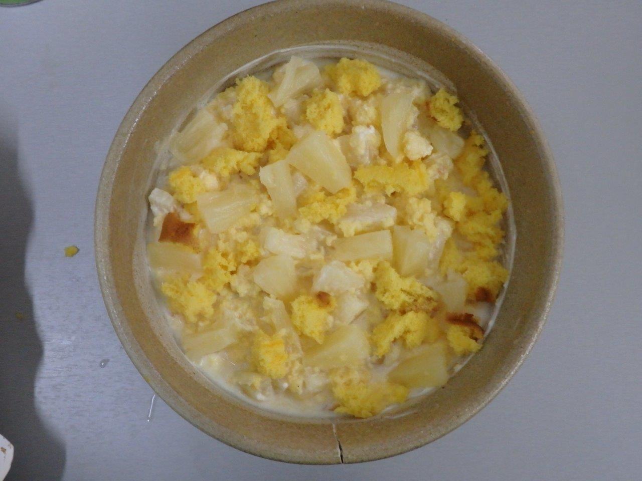 Ananás com Pão de Ló  ananás com pão de ló Sobremesa ultra-rápida de Ananás com Pão de Ló Ananas com Pao de Lo 6