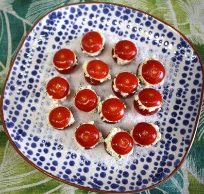 Mini Tomates recheados com Requeijão Mini Tomates 8 420x400