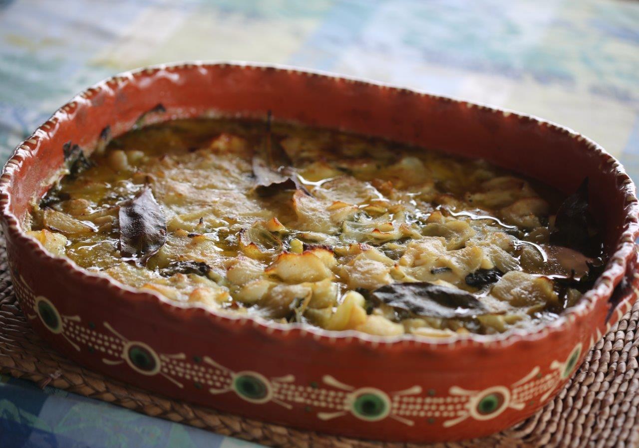 Bacalhau no forno com Batatas e Espinafres Bacalhau no forno com Batatas e Espinafres 16