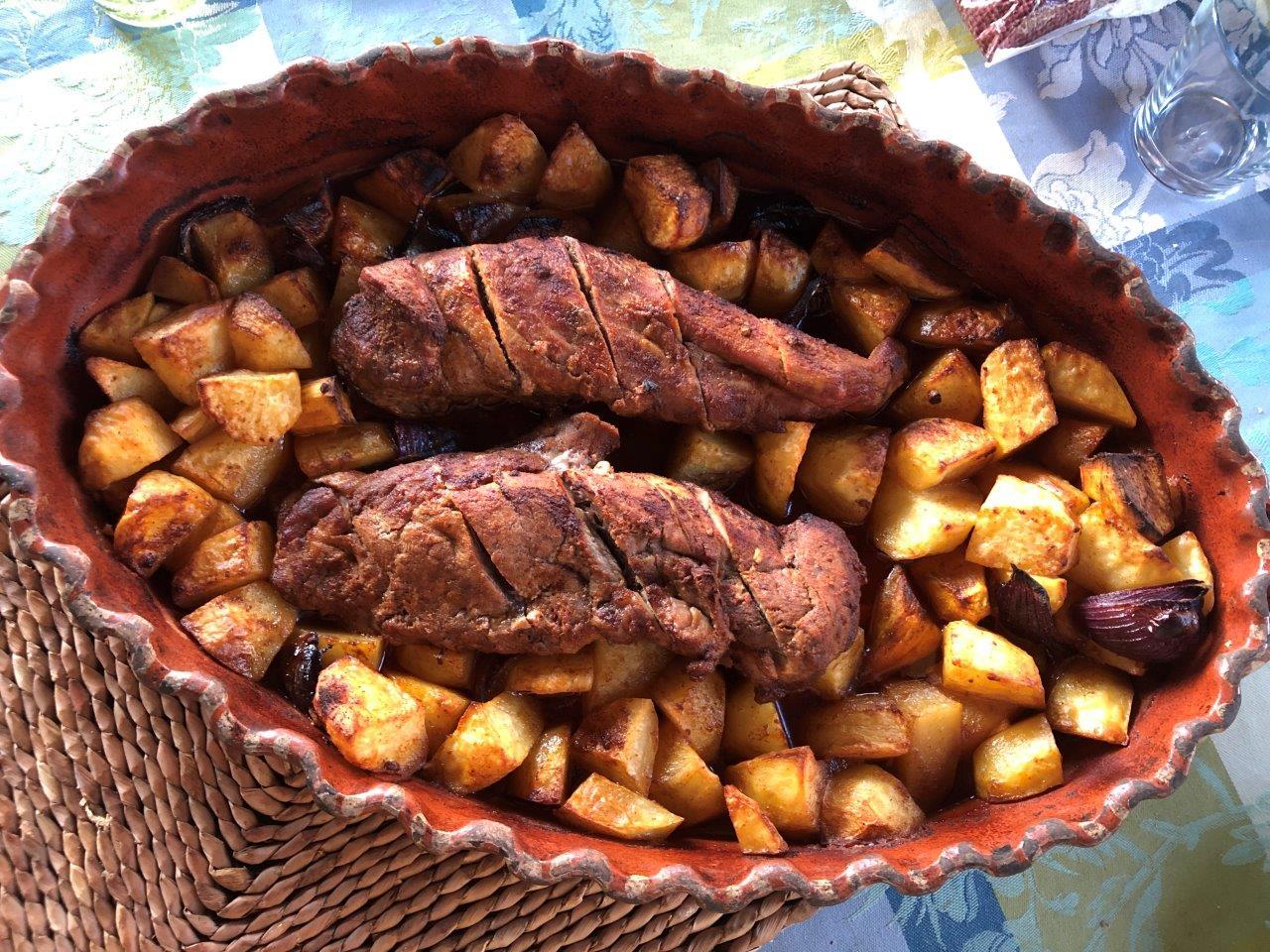 lombinhos assados no forno com batata a acompanhar (para 6 pessoas) - Lombinhos assados no forno com Batata a acompanhar