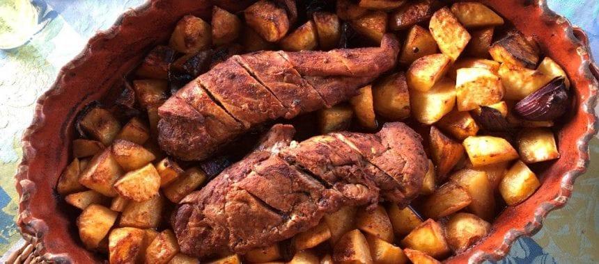 Lombinhos assados no forno com Batata a acompanhar