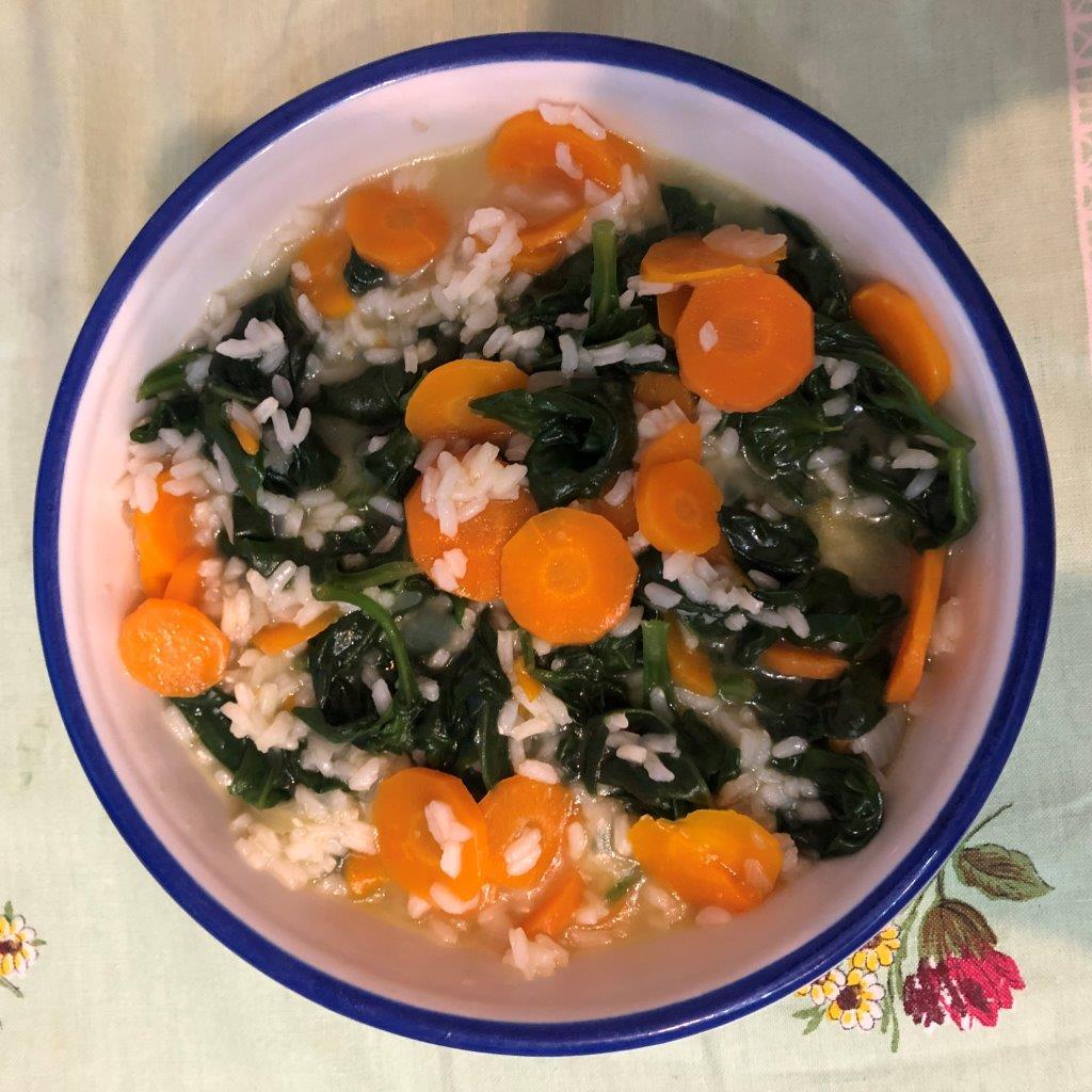 arroz de cenoura e espinafres Arroz de Cenoura e Espinafres Arroz Cenoura Espinafres5