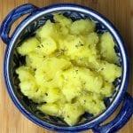 Batatas Cozidas com Azeite e Vinagre