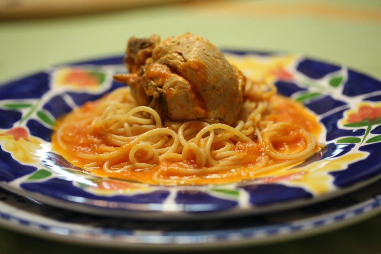 Frango do campo com esparguete Frango do campo com esparguete 2
