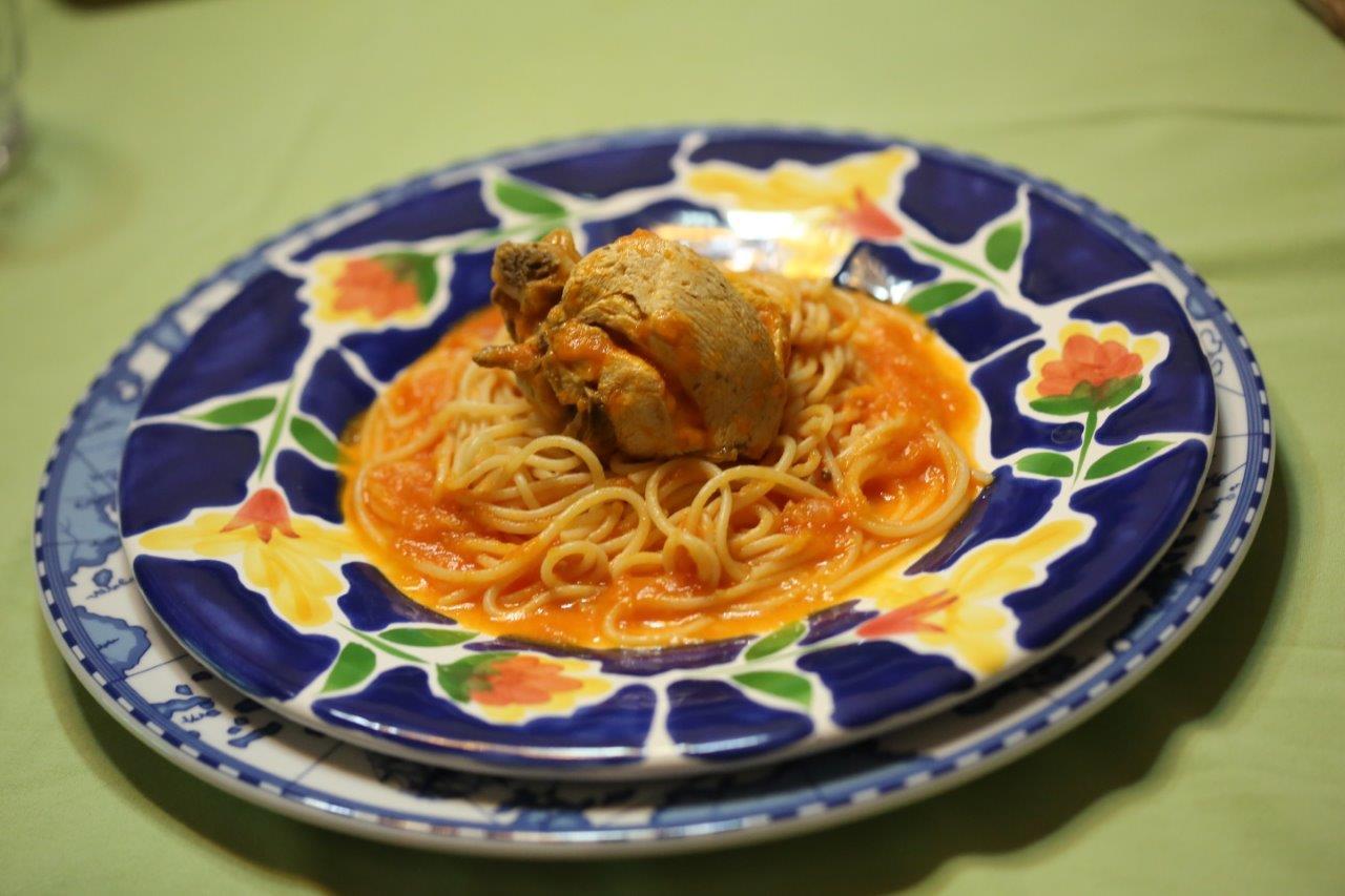 Frango do campo com esparguete Frango do campo com esparguete 3