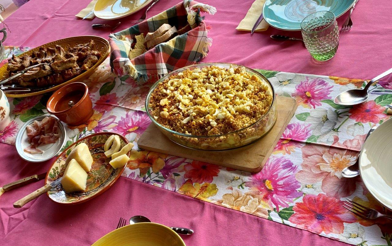 Bacalhau gratinado com couve lombarda e broa Bacalhau gratinado com couve lombarda broa 8