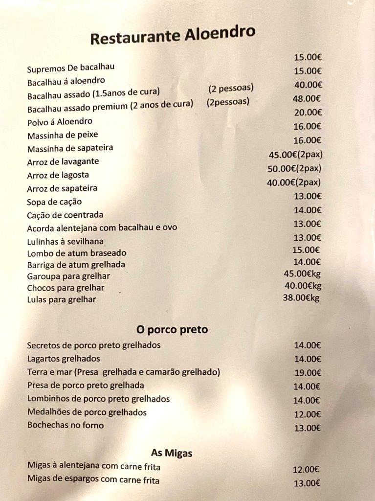 Um jantar no Restaurante Aloendro em Reguengos de Monsaraz Aloendro 3
